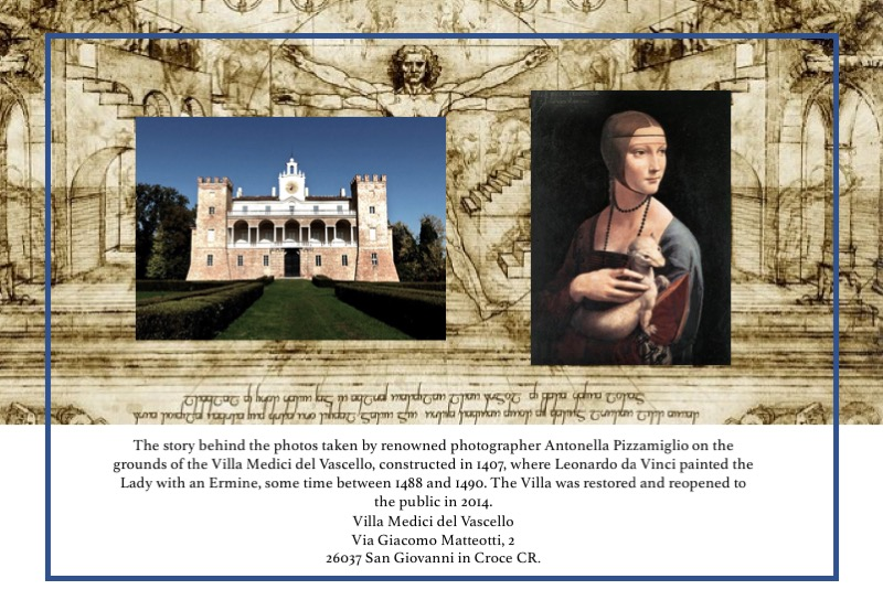 The story behind the website photos, Villa Medici del Vascello, da Vinci's Lady with an Ermine and photographer Antonella Pizzamiglio