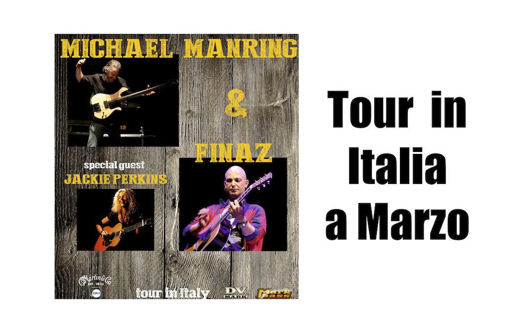 Tour In Italia di Michael Manring e Finaz, con Special Guest Jackie Perkins